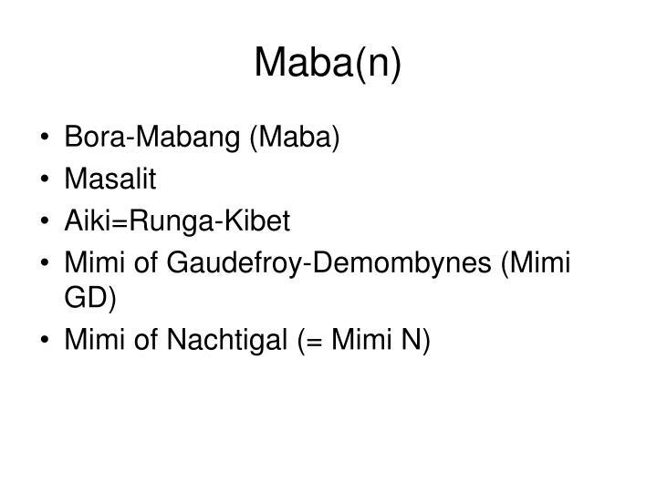 Maba(n)