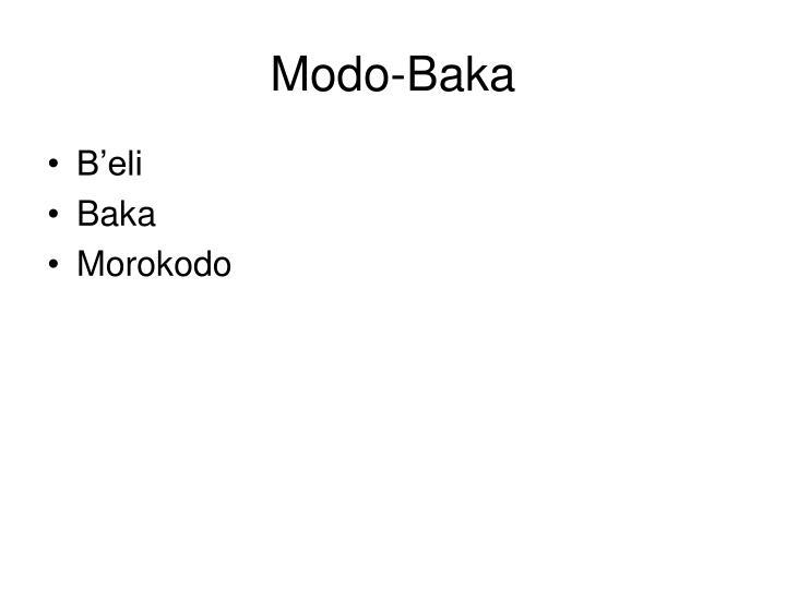 Modo-Baka