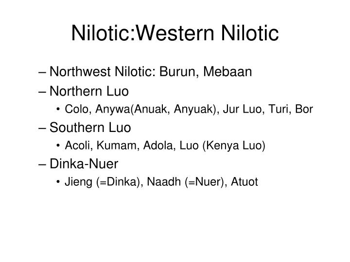 Nilotic:Western Nilotic