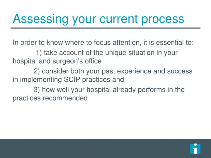 Assessing your current process