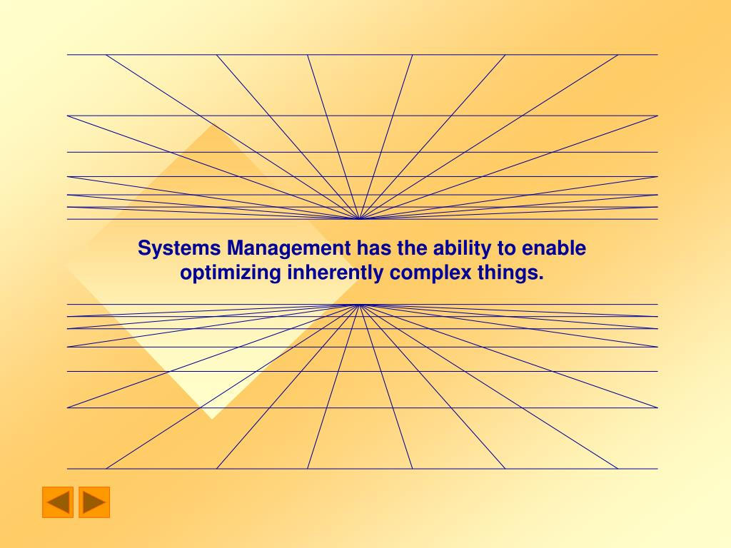 Systems Management has the ability to enable