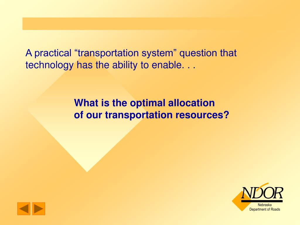 "A practical ""transportation system"" question that technology has the ability to enable. . ."