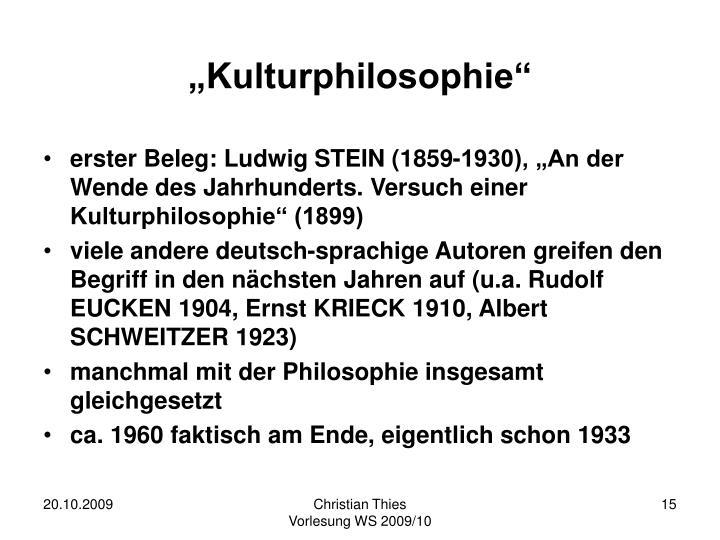 """Kulturphilosophie"""