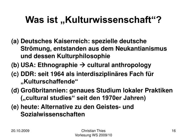 """Was ist """"Kulturwissenschaft""""?"""