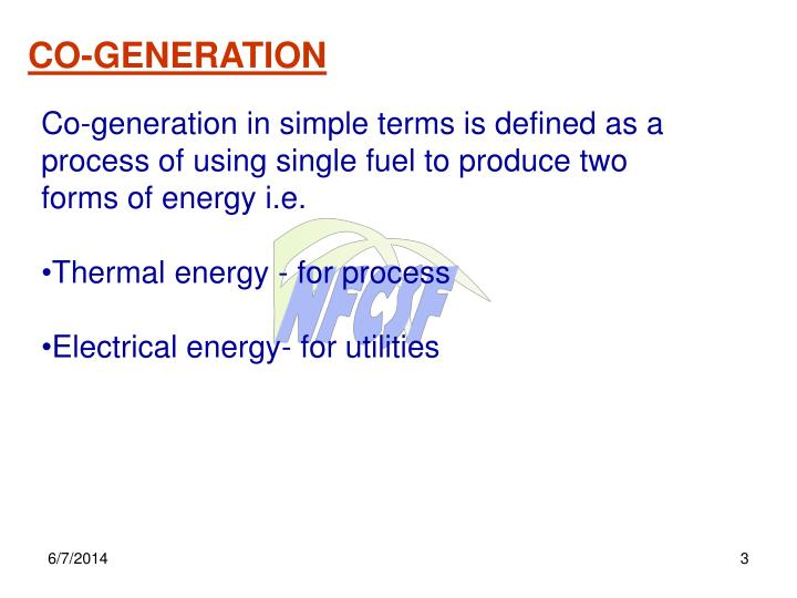 CO-GENERATION