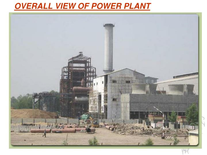 OVERALL VIEW OF POWER PLANT