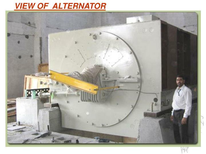 VIEW OF  ALTERNATOR