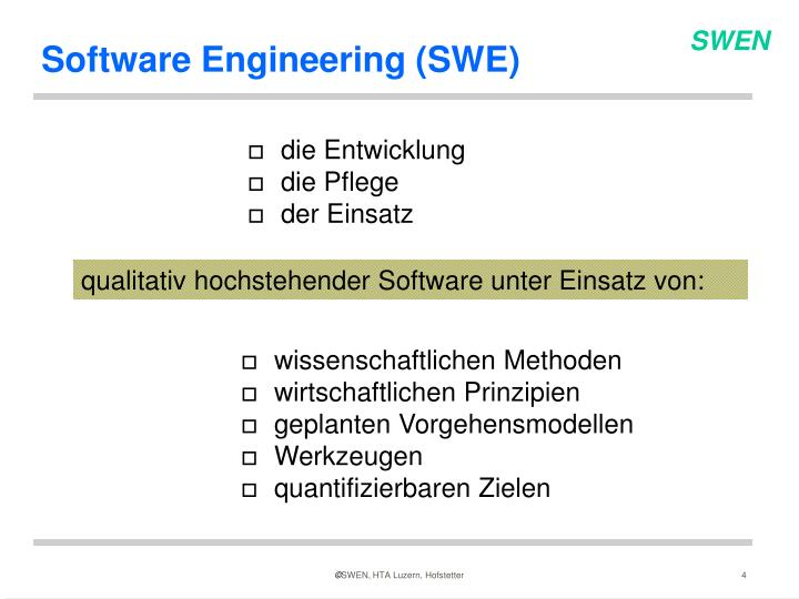 Software Engineering (SWE)