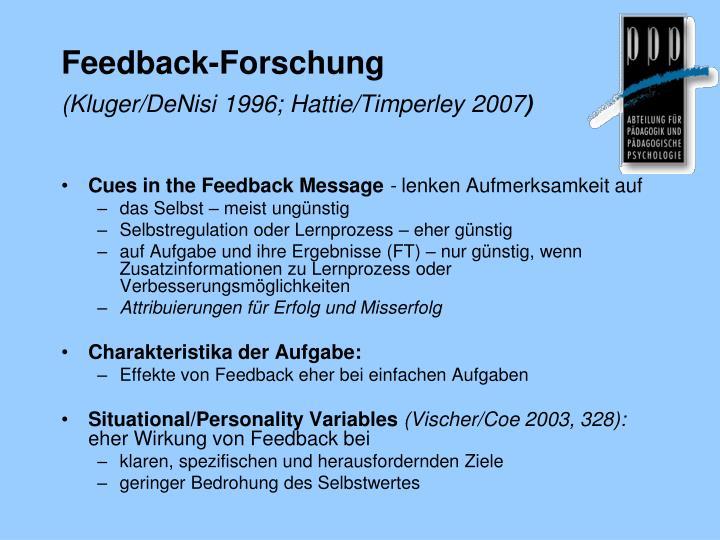 Feedback-Forschung