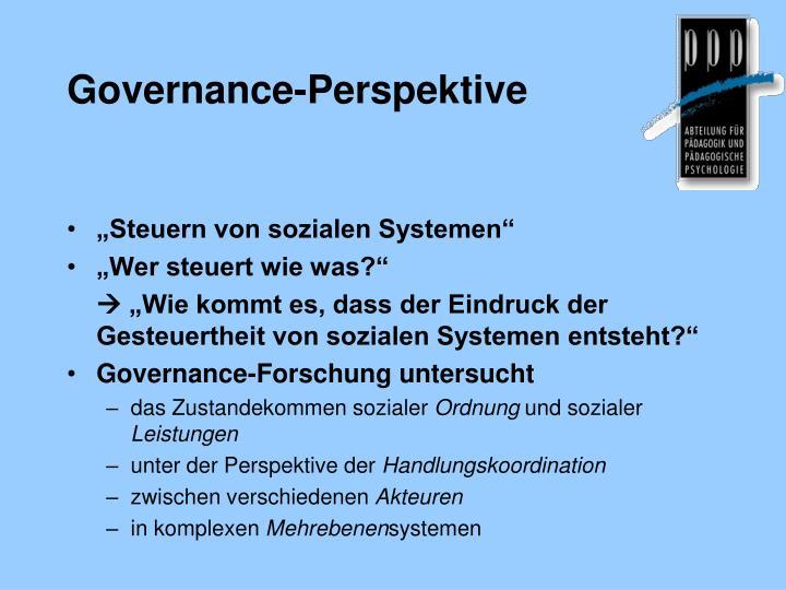 Governance-Perspektive