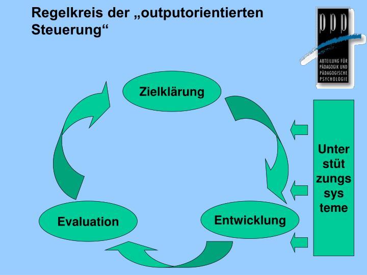 """Regelkreis der """"outputorientierten Steuerung"""""""