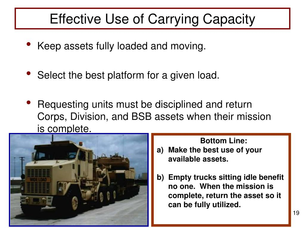 Effective Use of Carrying Capacity