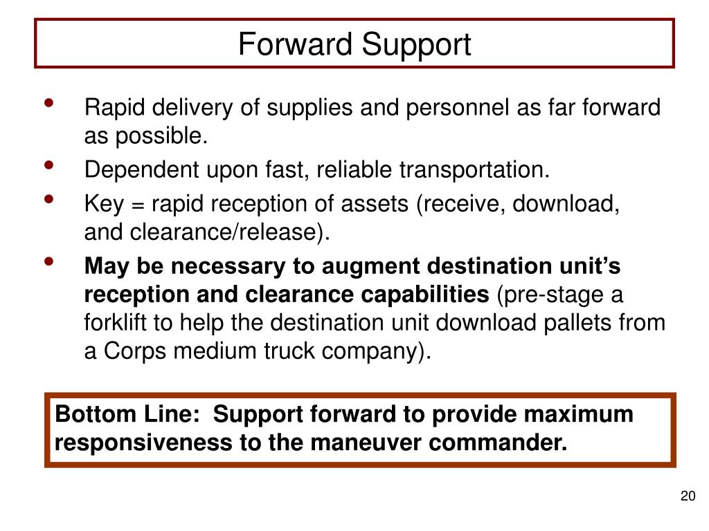 Forward Support
