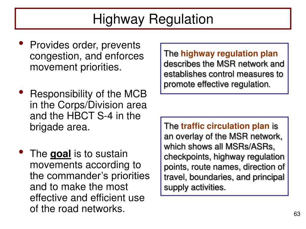 Highway Regulation