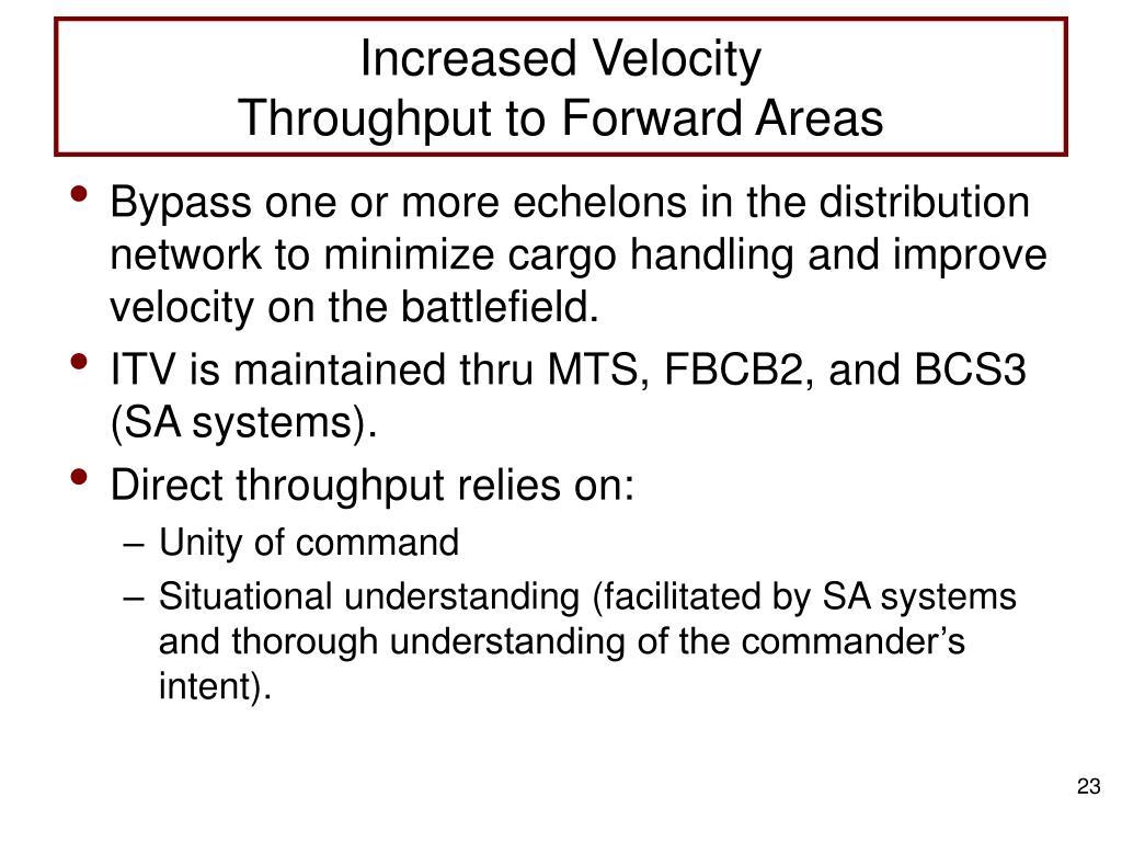 Increased Velocity