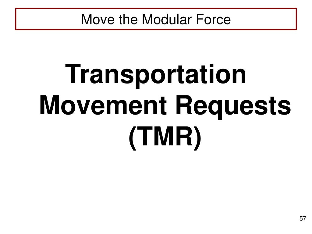 Move the Modular Force