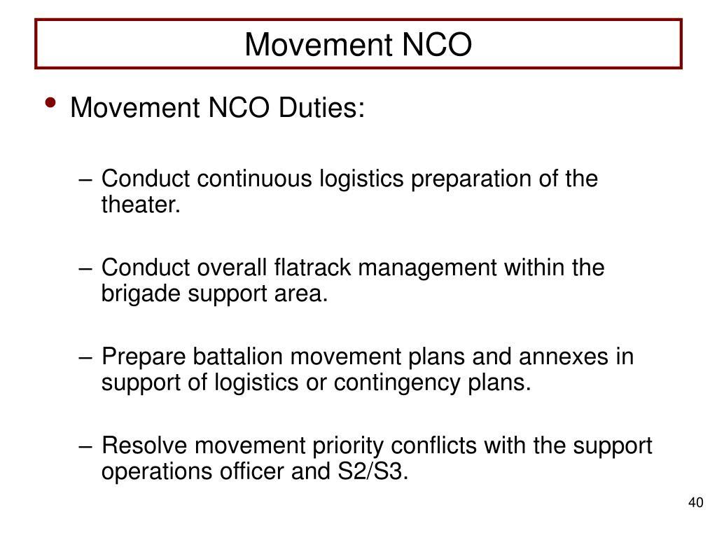 Movement NCO