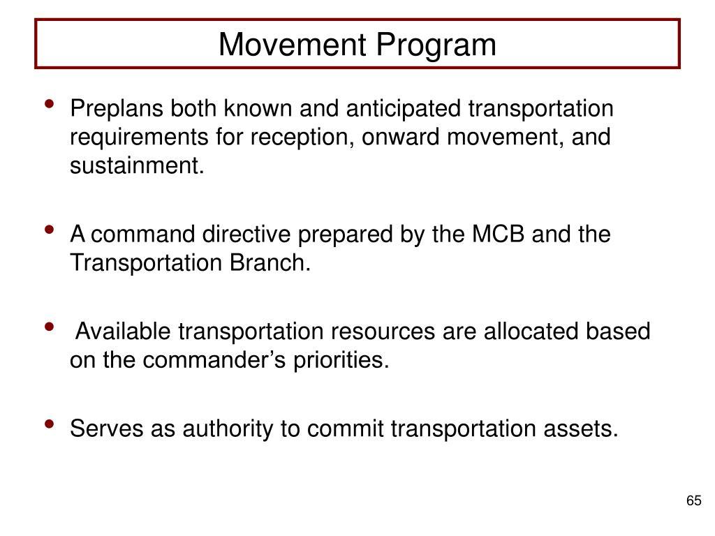 Movement Program