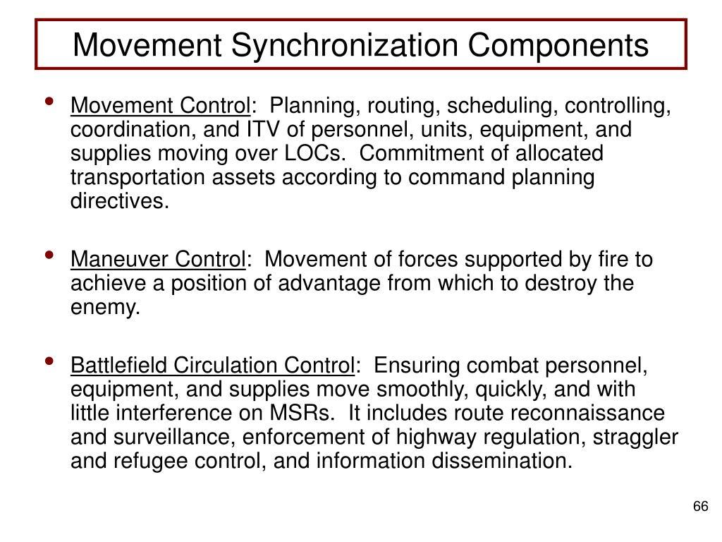 Movement Synchronization Components
