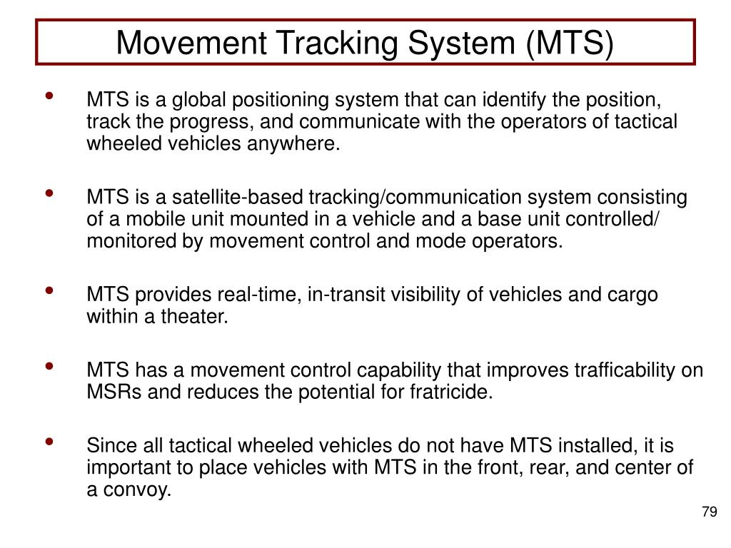 Movement Tracking System (MTS)