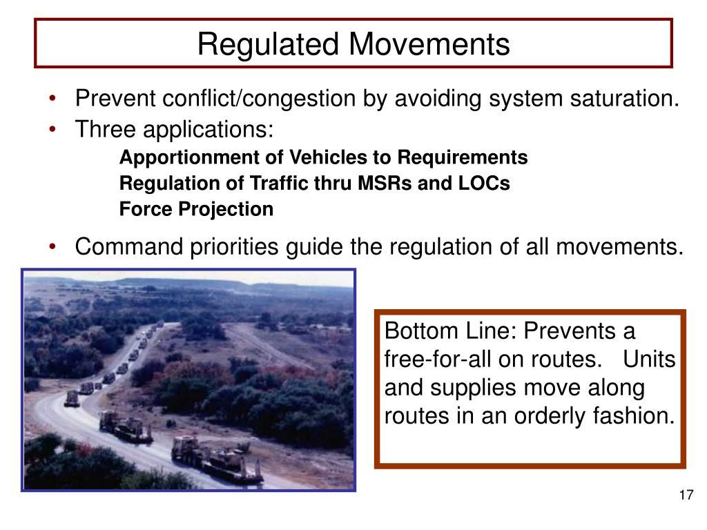 Regulated Movements