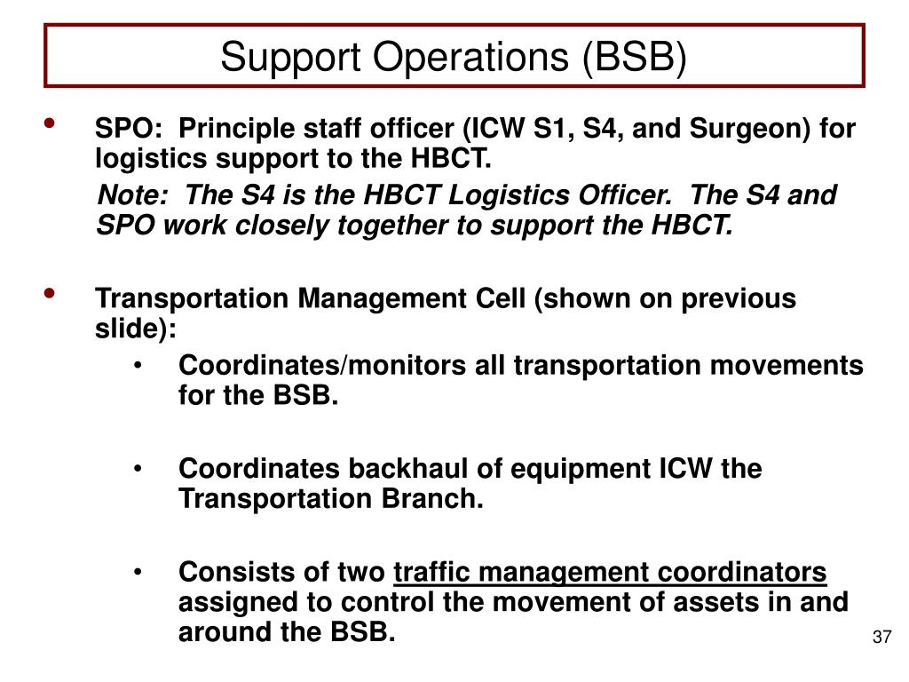 Support Operations (BSB)