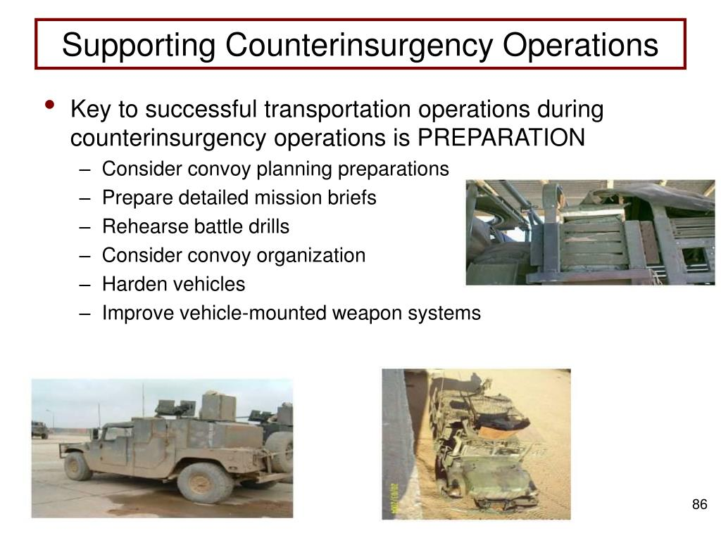 Supporting Counterinsurgency Operations