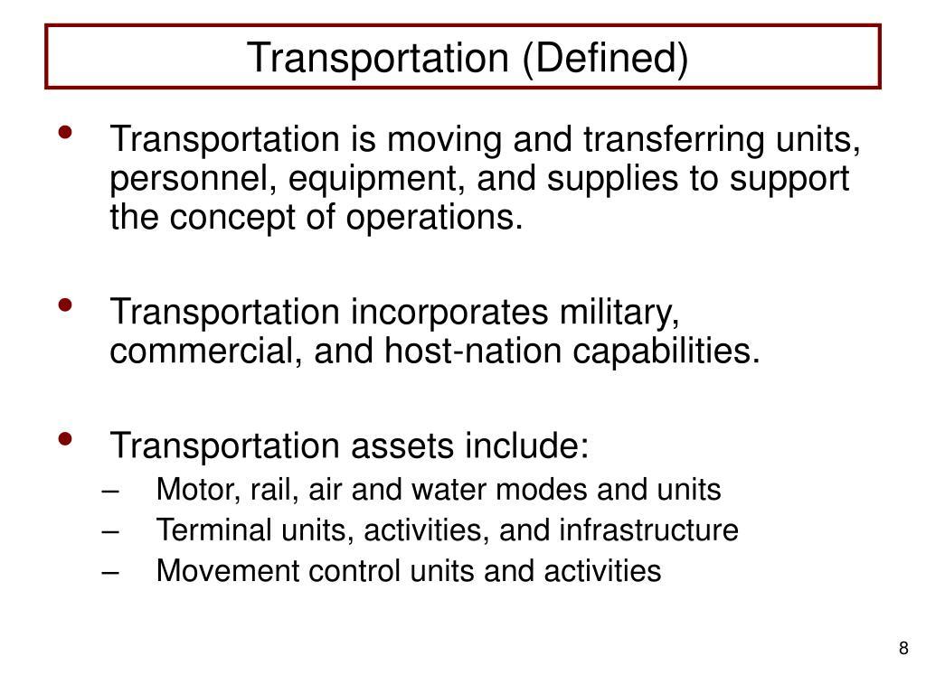 Transportation (Defined)