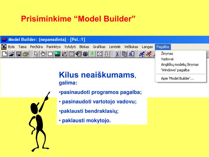 """Prisiminkime """"Model Builder"""""""