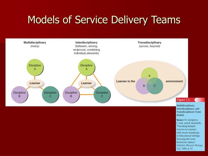 Models of Service Delivery Teams