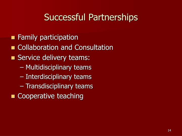 Successful Partnerships