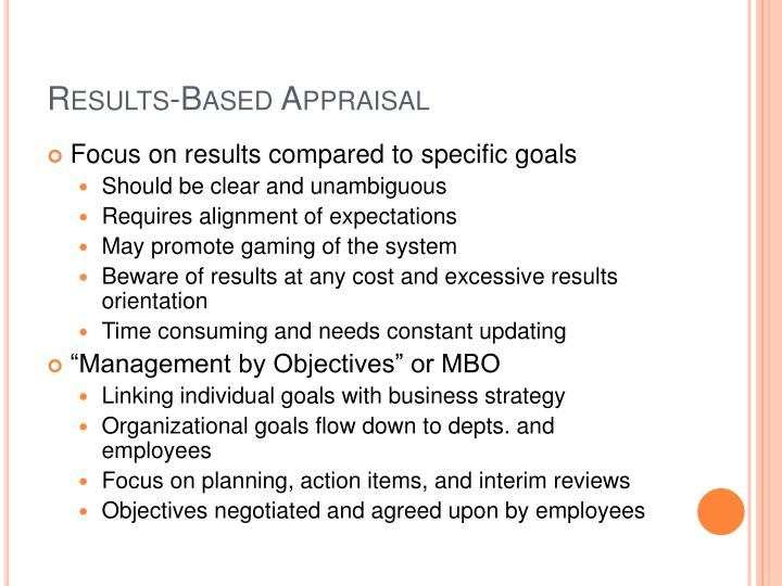 Results-Based Appraisal