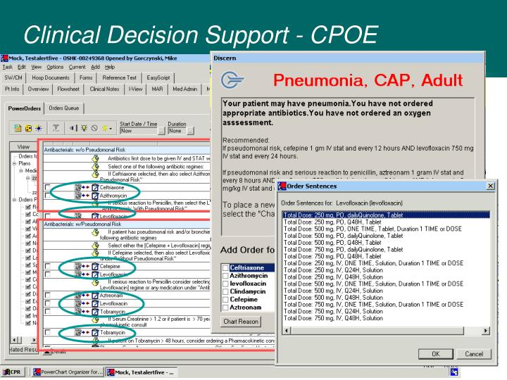 Clinical Decision Support - CPOE