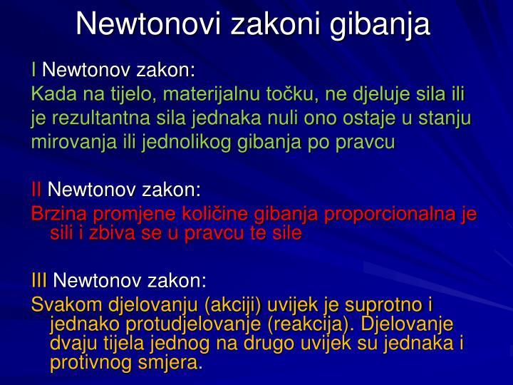 Newtonovi zakoni gibanja