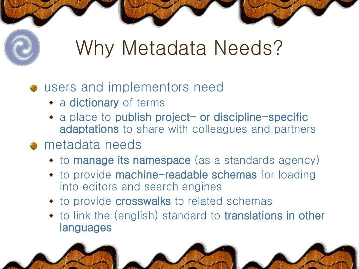 Why metadata needs