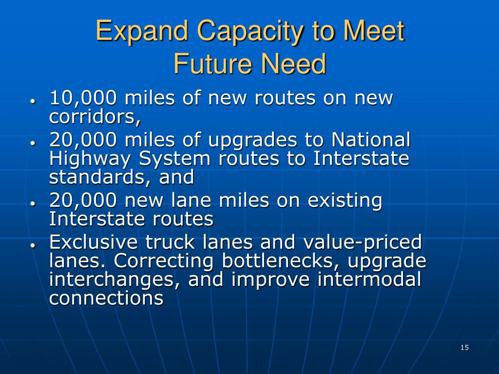 Expand Capacity to Meet