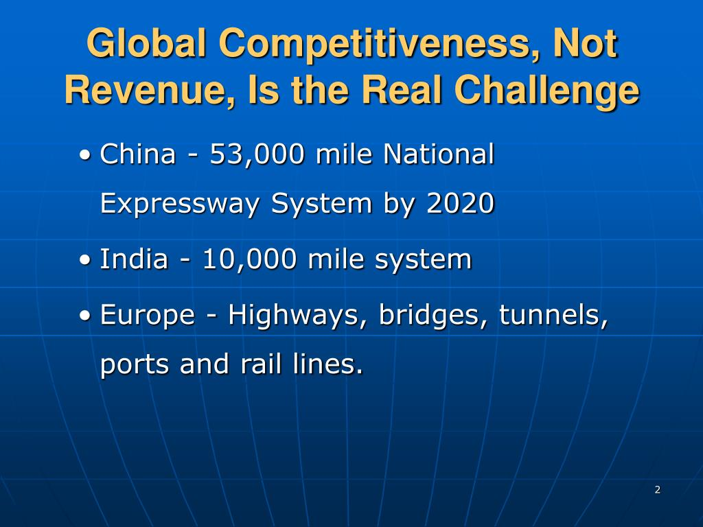 Global Competitiveness, Not Revenue, Is the Real Challenge