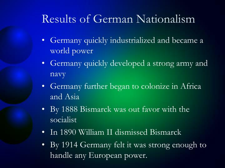 Results of German Nationalism