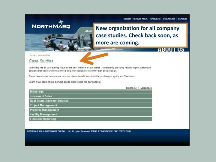 New organization for all company case studies. Check back soon, as more are coming.