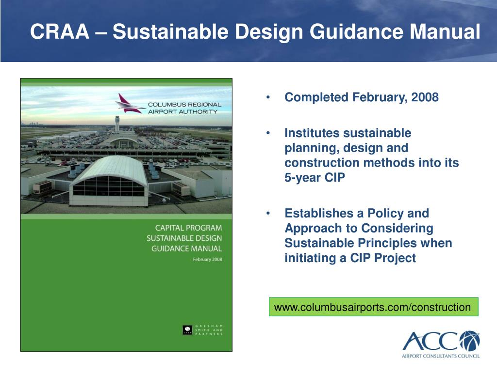 CRAA – Sustainable Design Guidance Manual
