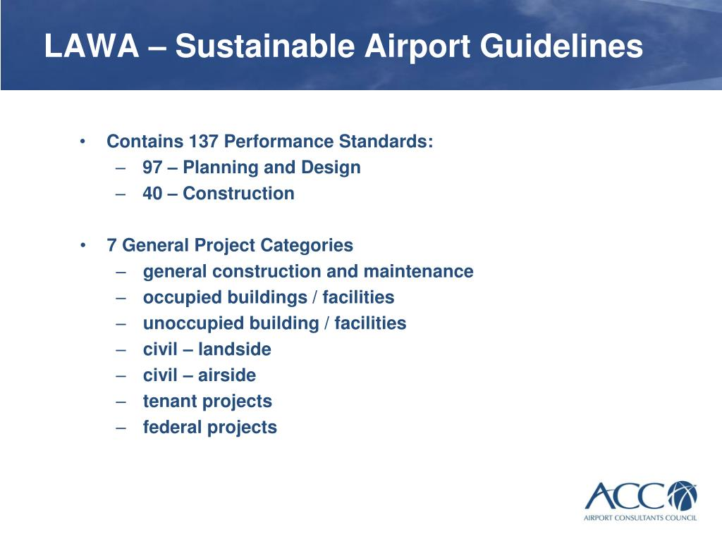 Project on airport sustainability
