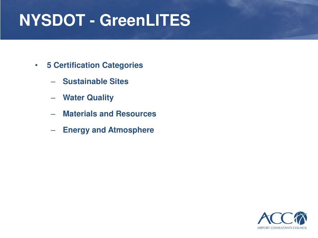 NYSDOT - GreenLITES