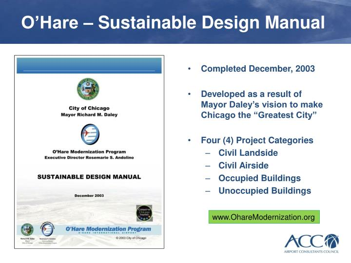 O hare sustainable design manual