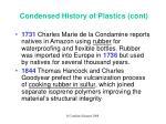 condensed history of plastics cont1