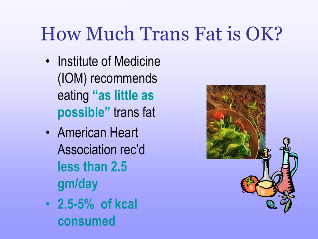 How Much Trans Fat is OK?