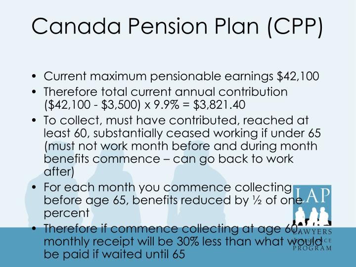 Canada Pension Plan (CPP)