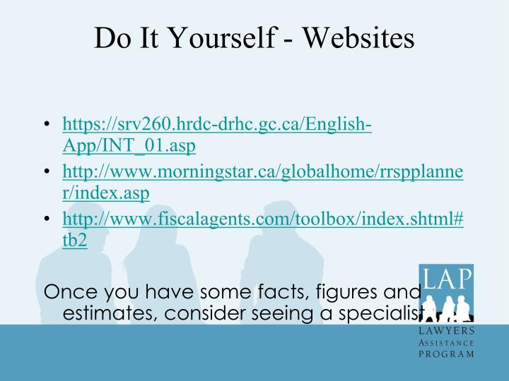 Do It Yourself - Websites