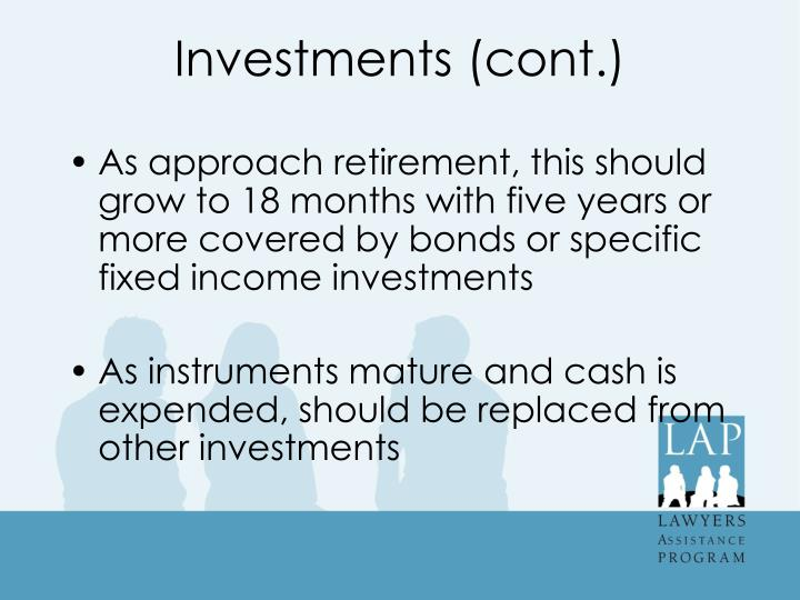 Investments (cont.)