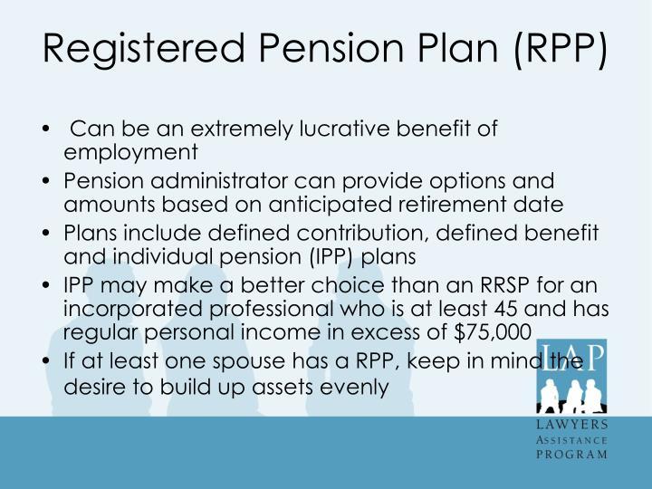 Registered Pension Plan (RPP)