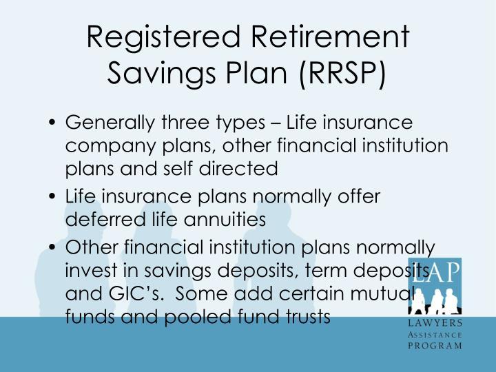 Registered Retirement Savings Plan (RRSP)